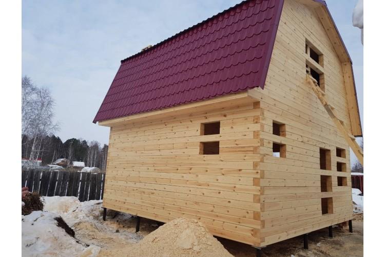 1. Зимой построили очередной дом из бруса.