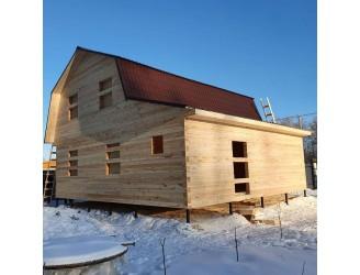 24.Зимой построили дом из бруса