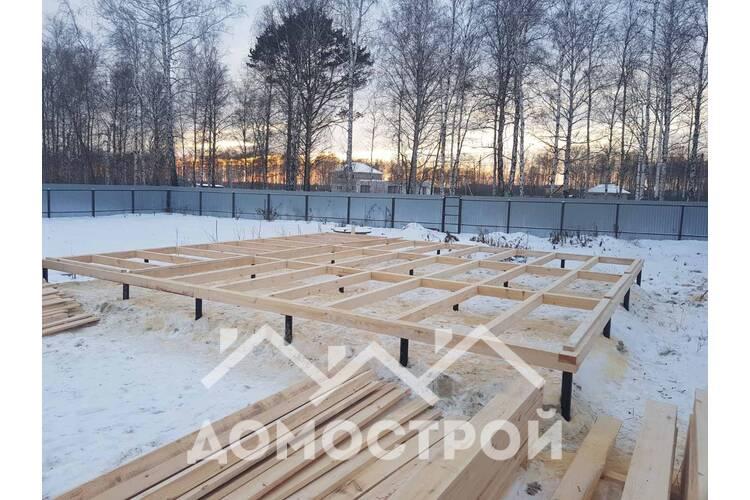 Зимой построили из бруса 9х9