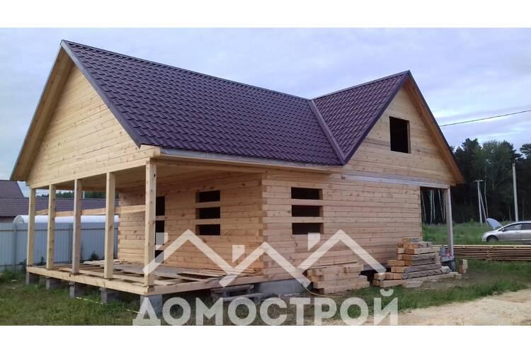 Строим дом из бруса 6х6 с эркерами.