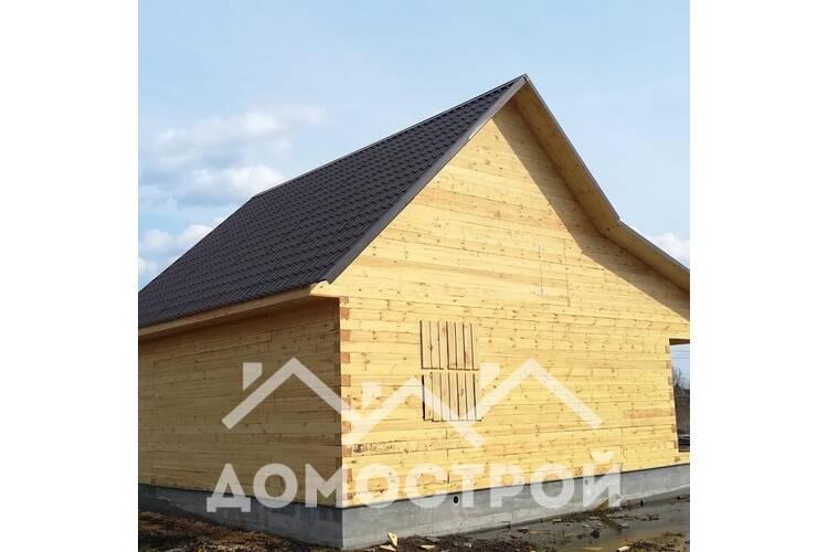 Дом из бруса 10х8 с террасой и котельной построили за 14 дней