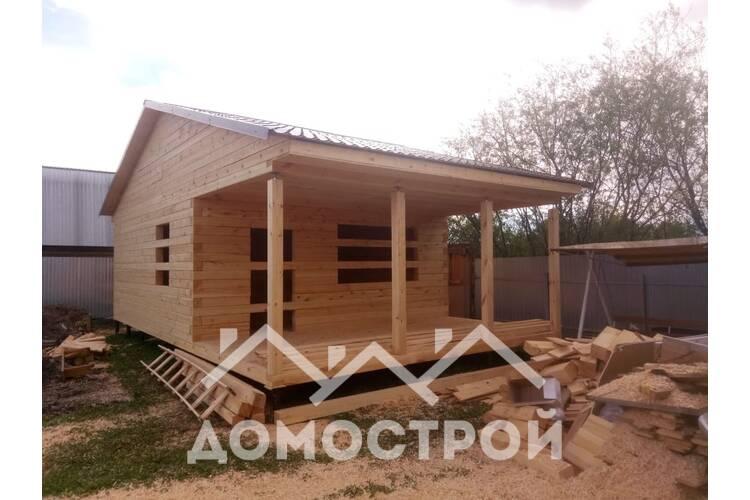 Дом 6х10 на винтовых сваях построили за 10 дней.