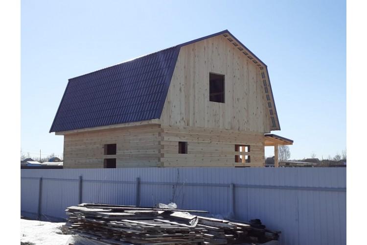 Построили Дом из бруса 7х8 в Тюмени