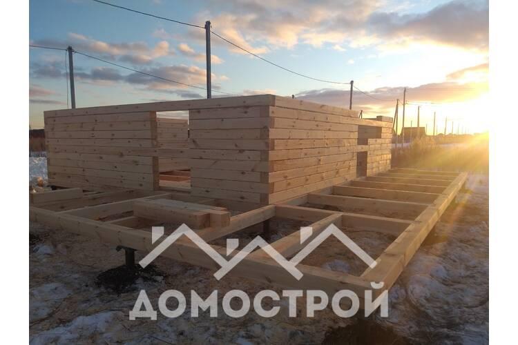 Во время карантина закончили строительство дома из бруса 7х7 с ломанной мансардой и террасой 2х9