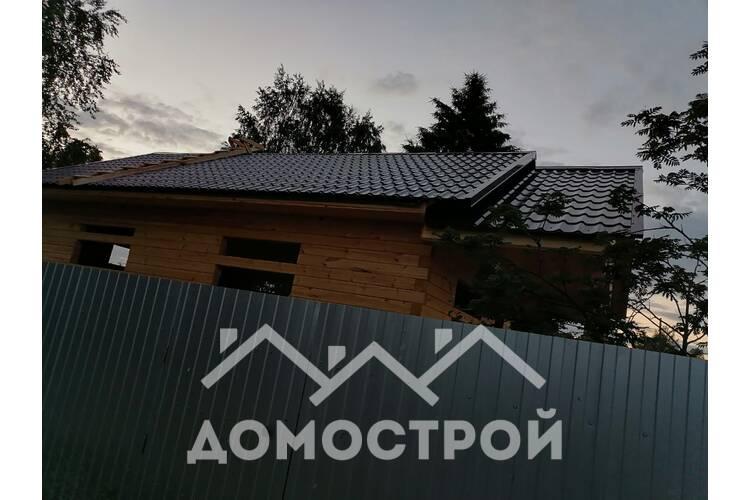 строительство дома 6х11 с террасой из бруса
