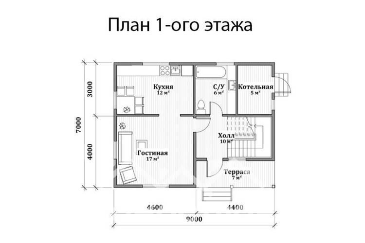 Дом из бруса ДП-118