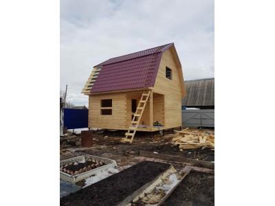 Дом из бруса 6х6 с угловлй террасой