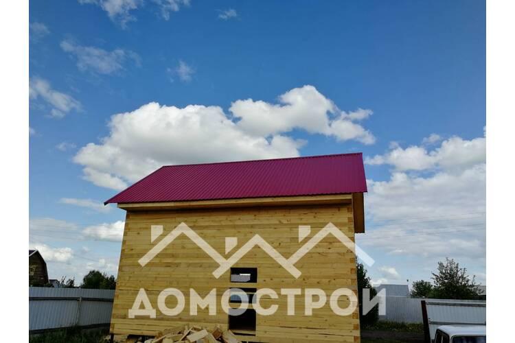 Дом из бруса 6х8. построили за 15 дней.