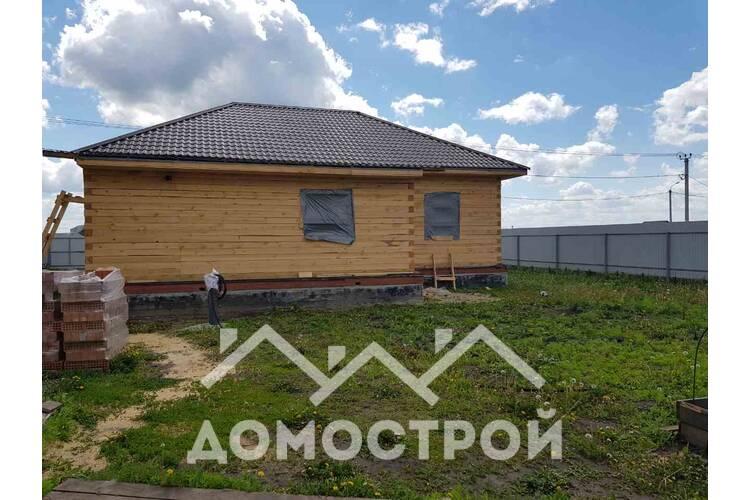 Закончили строительство дома из бруса размером 9х12.