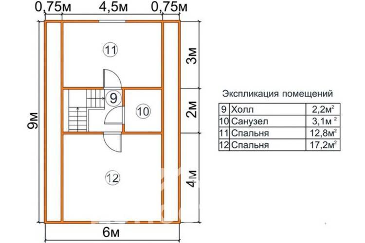 Дом из бруса ДП-122