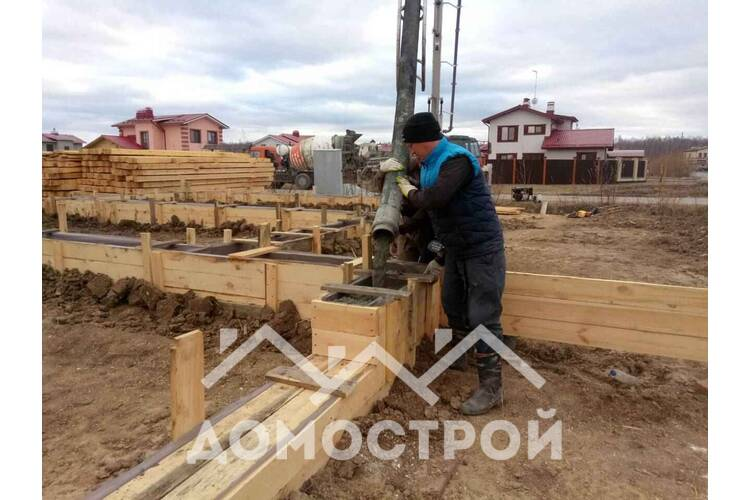 Строим большой дом с гаражом в Комарово!