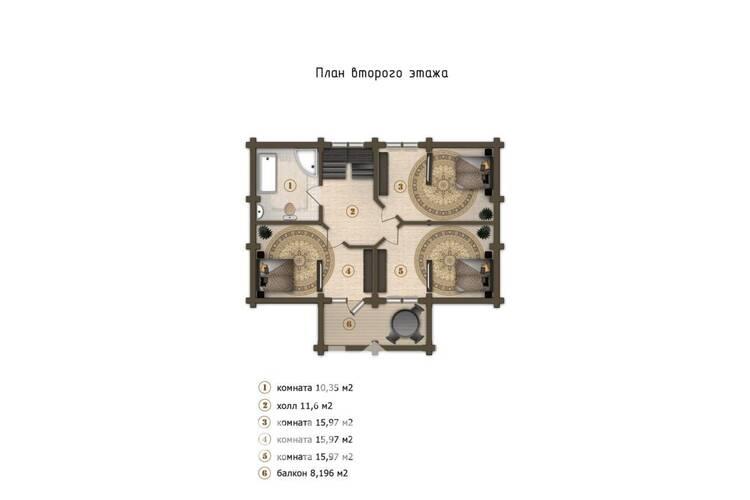 Дом из бруса Д-15
