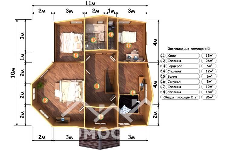 Дом из бруса М-31