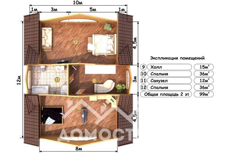 Дом из бруса М-30