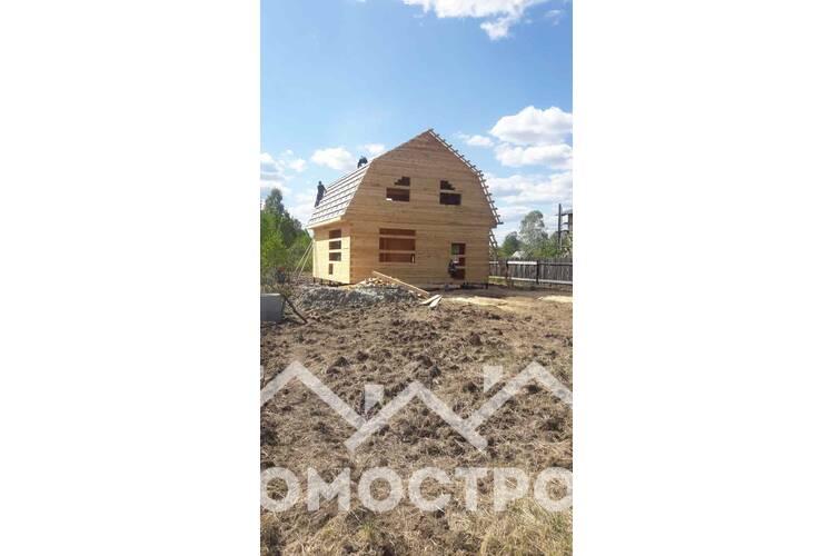Закончили строительство дома из бруса 8х8.