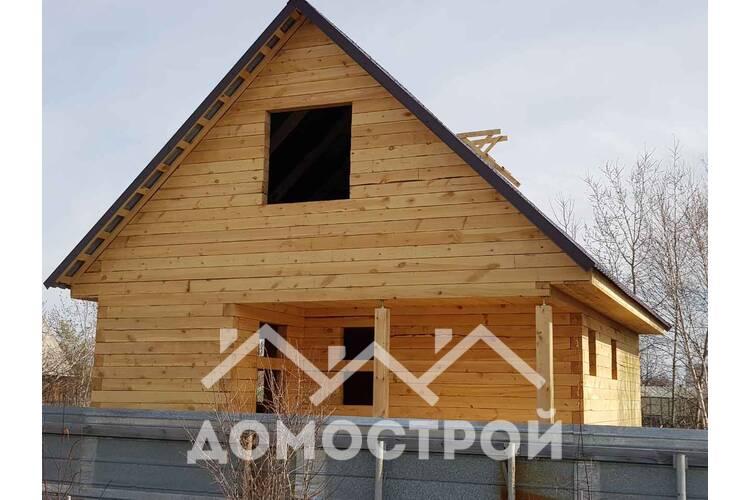 Строим дом из бруса на винтовых сваях размером 6х8 по Московскому тракту.