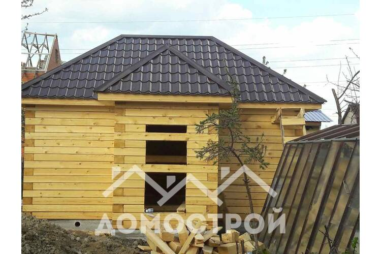 Закончили строительство бани 6х4 с тамбуром.| Домострой72