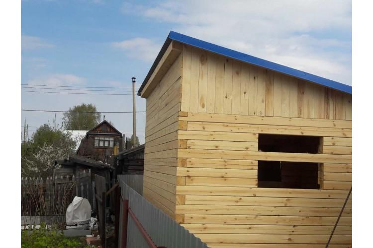 Построили баню 6х4 с односкатной крышей.| Домострой72