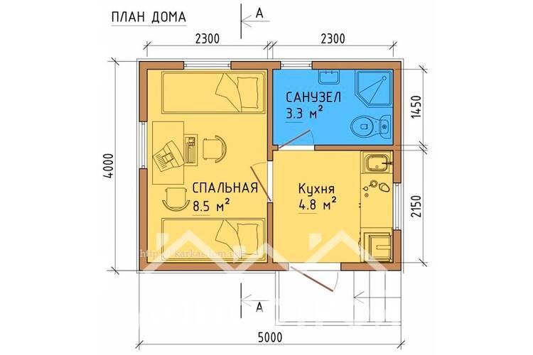 Дом из бруса ДП-119