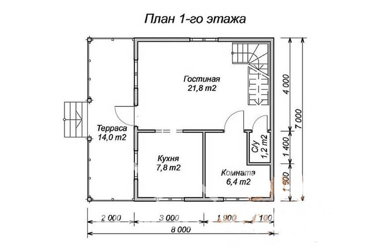 Дом из бруса ДП-124