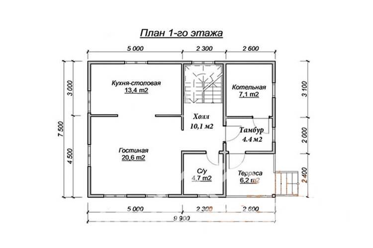 Дом из бруса ДП-125