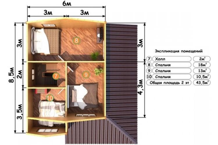 Дом из бруса ДП-114