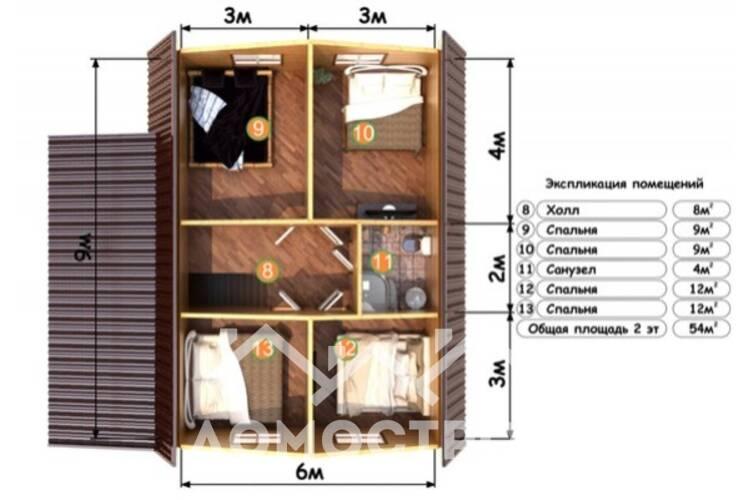 Дом из бруса ДП-113