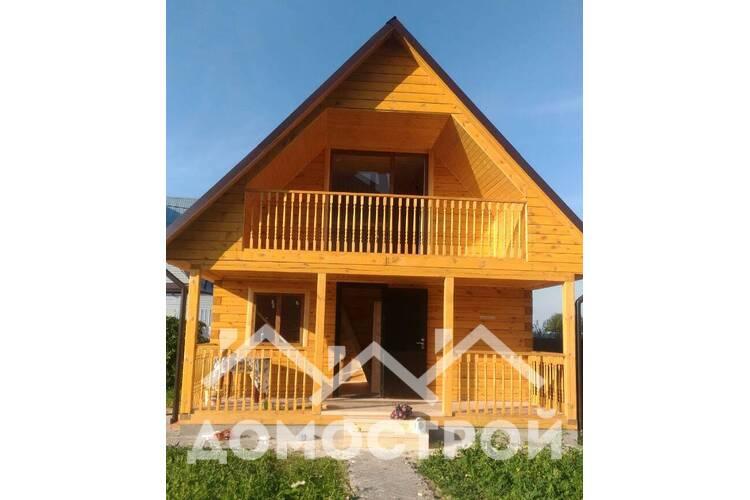 Построили баня 6х6 с террасой и балконом| Домострой72