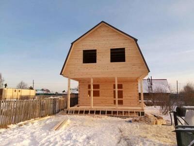 Дом из бруса 6х6 с террасой 6х3.