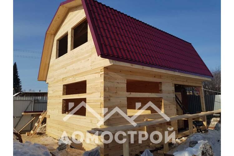 Дом из бруса 6х6 с террасой 2х6.