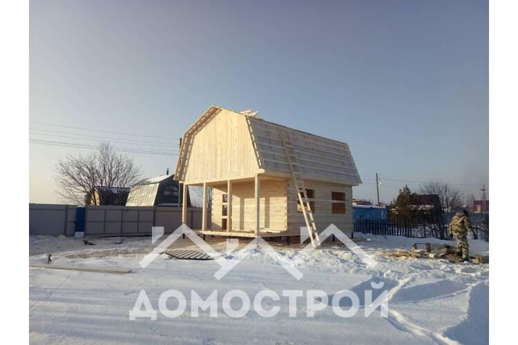 Началось строительство дома 6х6. на винтовых сваях.