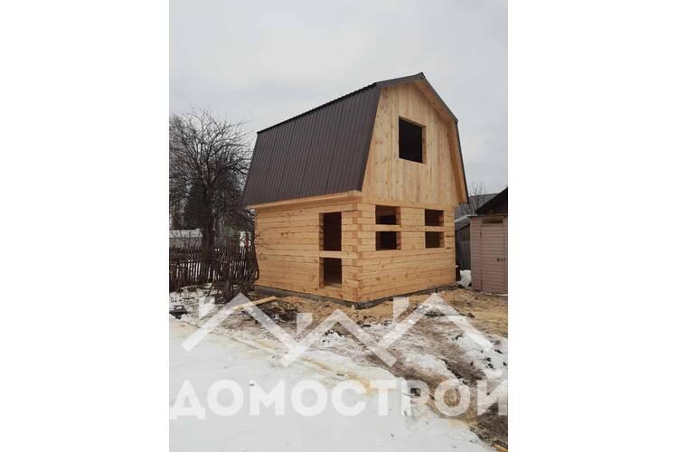 Зимой построили баню из бруса. Баню размером 6х6 построили за 12 дней.
