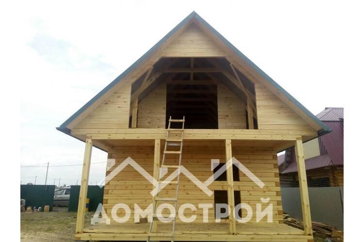 Закончили строительство дома 6х6 с террасой 6х2| Домострой72