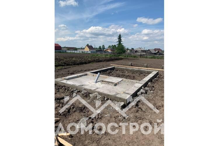 Ленточный фундамент в тюмени от Домострой72