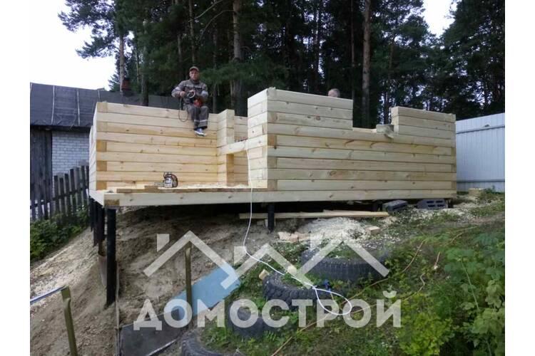 Начинаем строительство дома 6х6 на винтовых сваях в Винзилях.