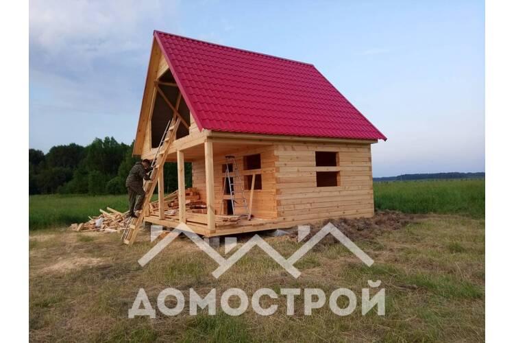 Баня из бруса в Ярково по проекту  П-218 размером 6х6 готова за 1 неделю!