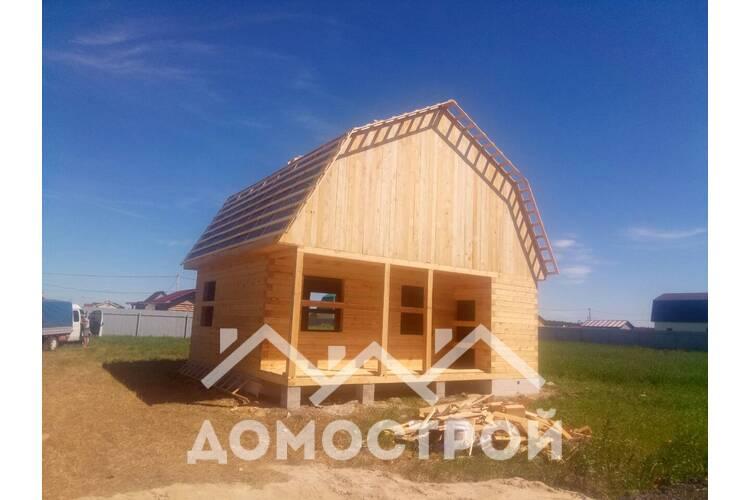 Дом из бруса 7,5х8 построили за 10 дней.