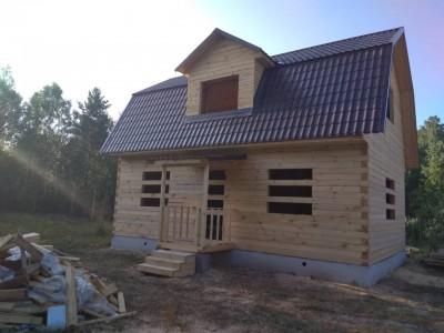 Дом из бруса проект Д-14 размером 6х9