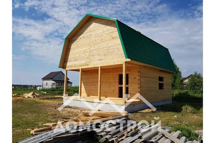 Закончено строительство дома в п.Молодежный 9х7