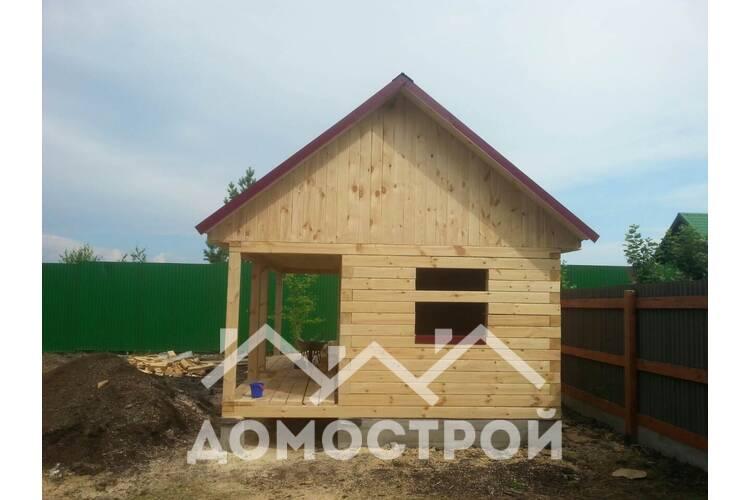 Закончили строительство бани в Метелево.| Домострой72