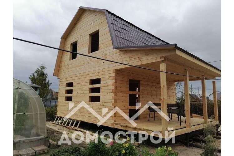 Дом 6х6 с террасой 2.5х6 из бруса 150х150