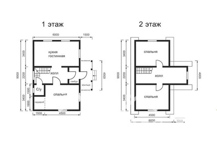 Дом из бруса ДП-110