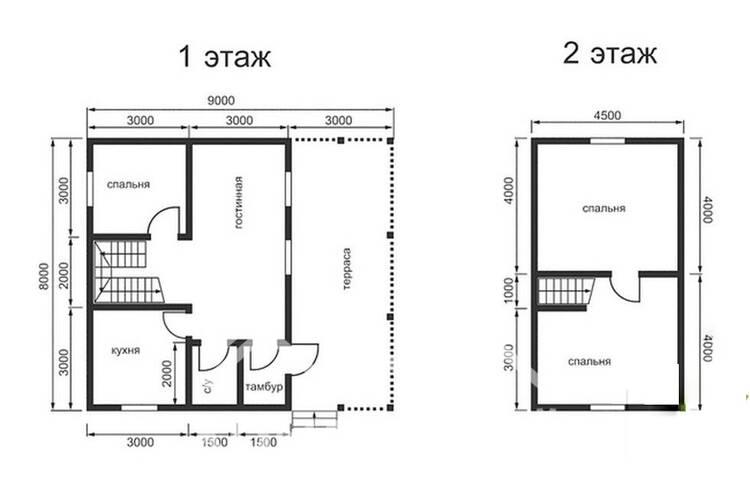 Дом из бруса ДП-112