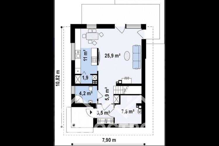 Дом из блоков|Домострой 72