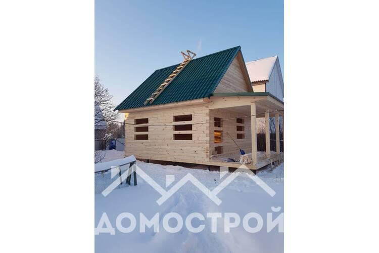 Дом из бруса 6х6 с террасой 2х6