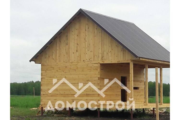 Дом 6х4 с террасой 6х2 построили за 8 дней!| Домострой72