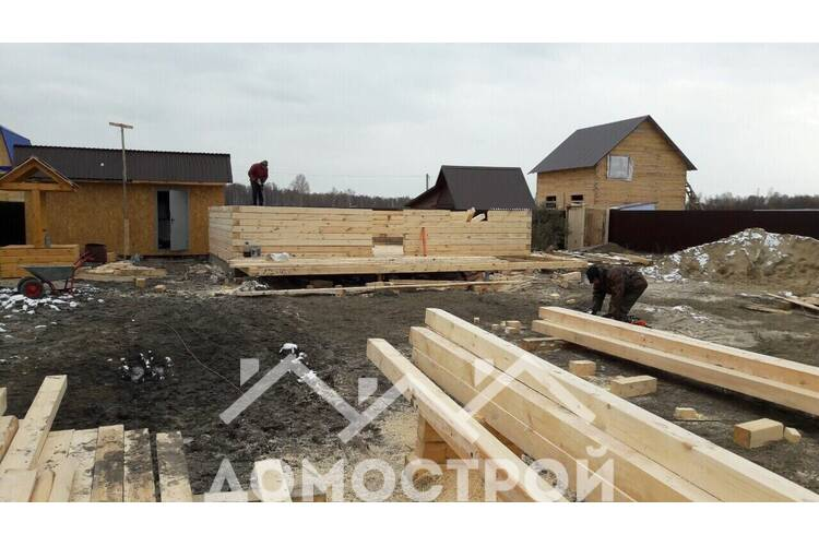 """Поэтапный монтаж дома-бани в СНТ """"Строитель"""""""