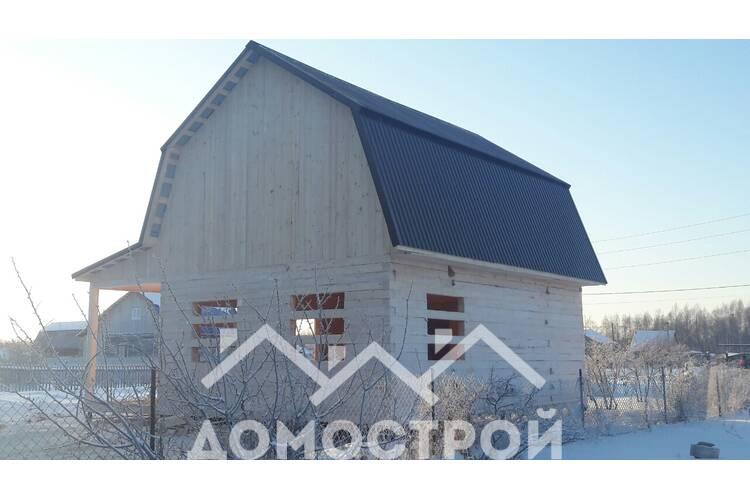 Возвели дом 6 на 8 с террасой 2,5м (мансарда ломаная высота 2,4)