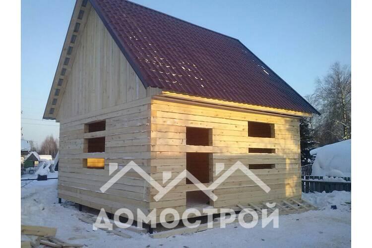 Готов дом 6 на 6 с двухскатной крышей