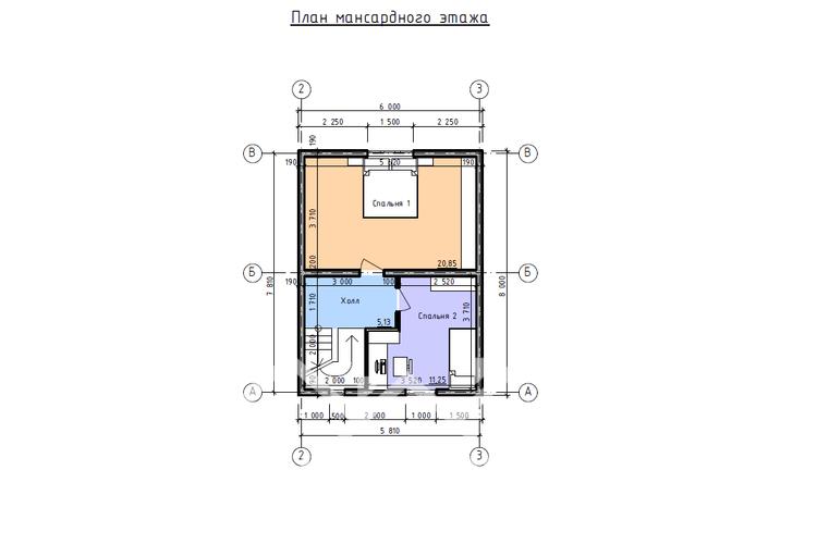 Дом из бруса М-54